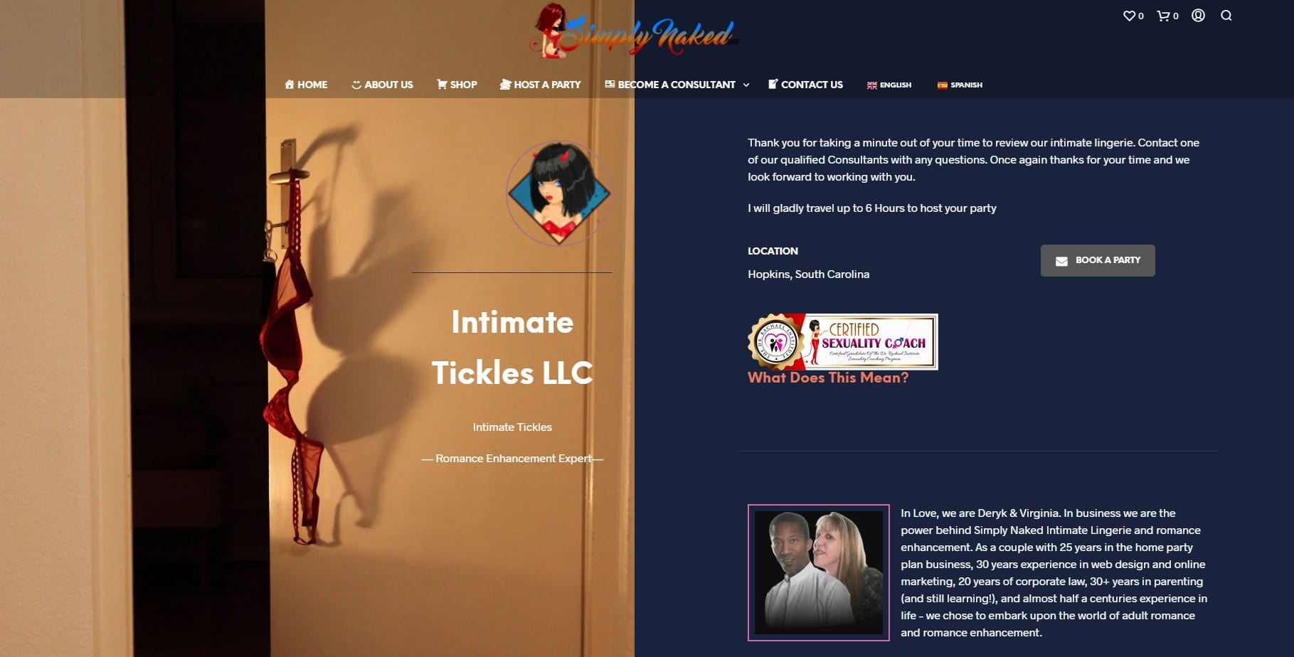 Lingerie Shopping Center With Sexuality Coach Certification Seal